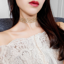 BK Choker Neckalce 2 Colors Fashion Jewelry Statement Gold and Silver Chunky Necklace Chain For Women