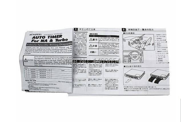 Universal APEXI Turbo Timers 3 Color Light Original Color Box For NA