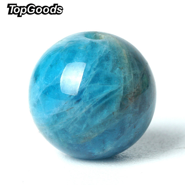 TopGoods Natural Larimar Stone Beads Green Pectolite Gemstone Round Loose Bead 6