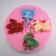 Angel silicone mold sugar chocolate molds cake decorating fondant lace mould