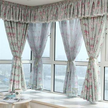 Современные шторы в пасторальном стиле с розами, светонепроницаемые шторы, занавески для гостиной, спальни, современные затемненные шторы ...