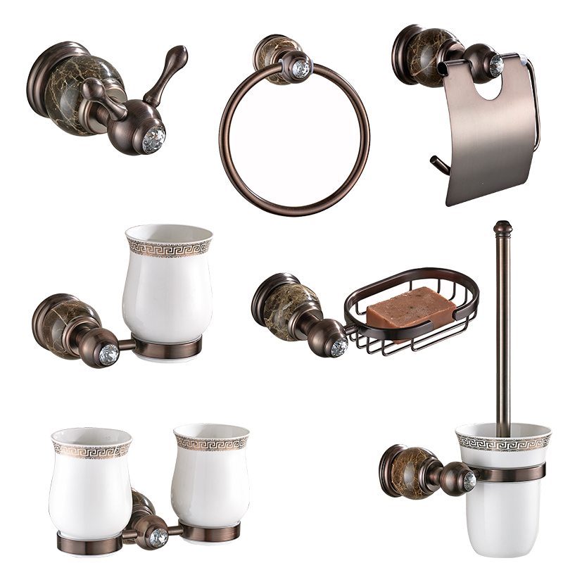 MADICA-jeux de matériel de bain | Bronze, cuivre, porte-serviette, papier déchet porte-gobelet s porte-gobelet savon, porte-serviette anneaux