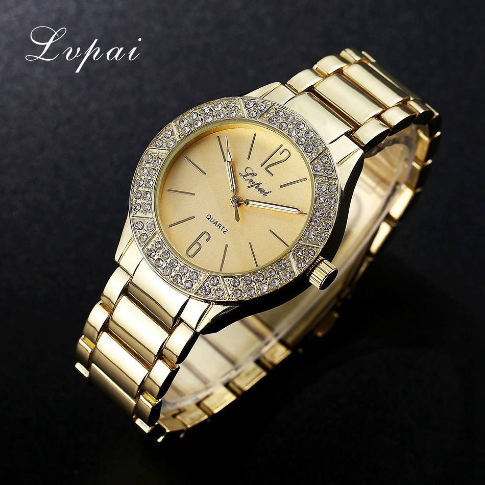 2017 Lvpai Brand Fashion Watch Women Dress Quart Watch Rhinestone Watches Wristwatch Casual Women Electronic Female