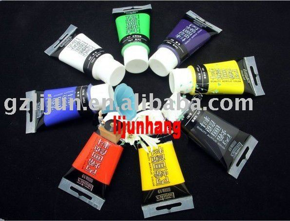 12 colors Acrylic paint + free shipping