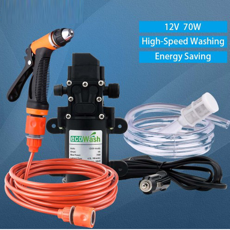 Car Wash 12V Car Washer Gun Pump High Pressure Cleaner Car Care Portable Washing Machine Electric Cleaning Auto Device Wash Car