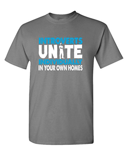 Us 12 55 Gildan Graphic Make A Tee Shirt Introverts Unite By Yourselves At Home Mens Cotton T Stretch Custom Shirts In From