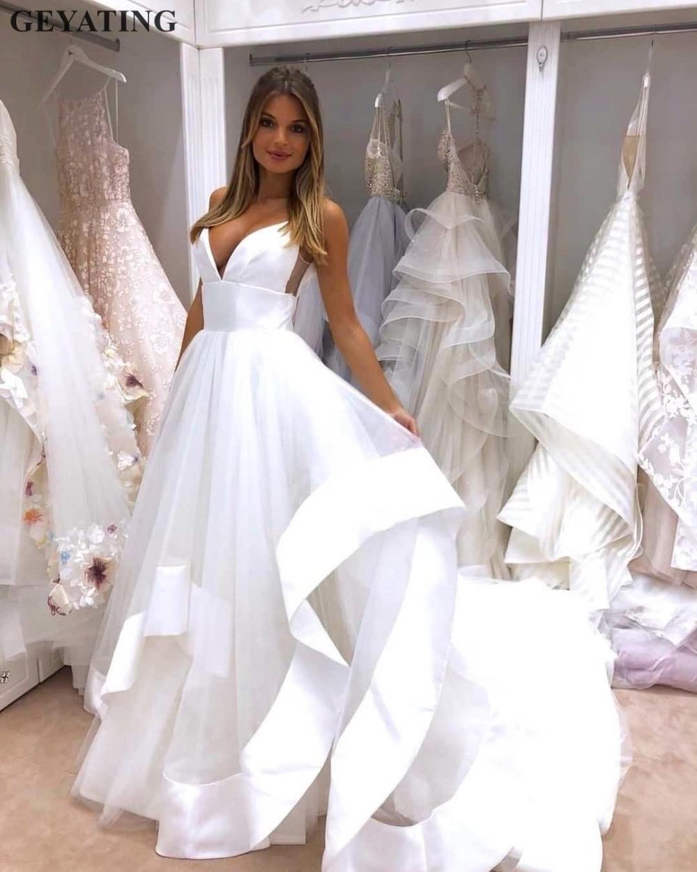 Beaded Cheap Organza Beach Wedding Dresses China Ball Gown: Aliexpress.com : Buy Sexy Spaghetti Straps Open Back