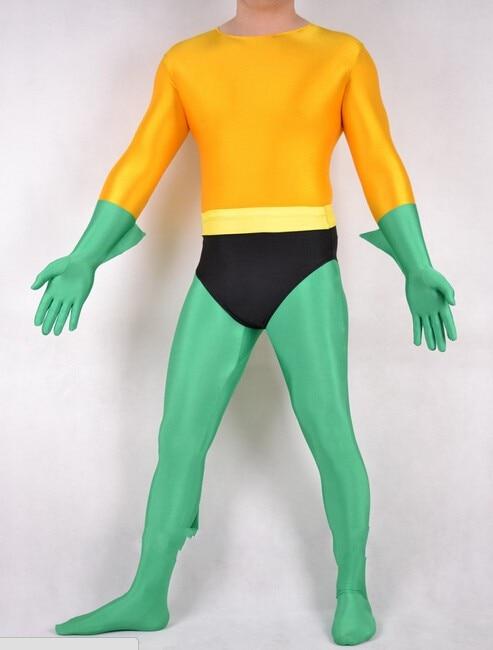 Watermonkey Aquaman SuperBoy Marvel Cosplay Costume Halloween Unisex Lycra Spandex Lycra Zentai bodysuit