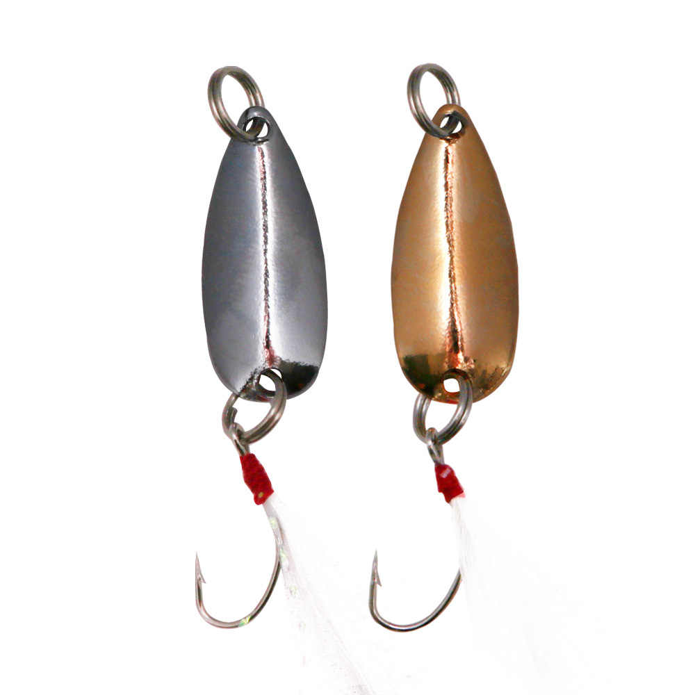 1 PC เหยื่อช้อนตกปลาล่อ 1g 1.5g Pesca ปลาเทราท์โลหะ Wobbler Sequins Spinner Bass เหยื่อตะขอตกปลาเดี่ยว