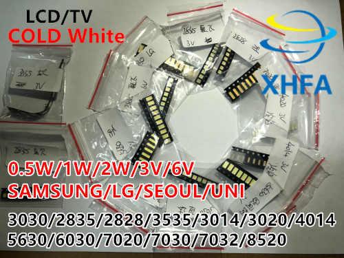 150 sztuk/partia 1W led smd Kit 3 V/6 V 2835/3030/2828/3535/5630/7020/7030/4020/4014/7032 zimny biały dla podświetlenie tv koraliki