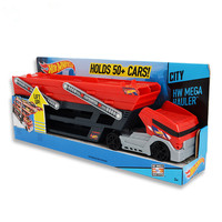 Hot Wheels CKC09 Heavy Transport Vehicles 6 Layer Small Car Toy Scalable Storage Transporter Truck Educational