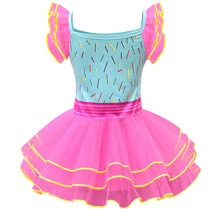 Image 3 - Baby Girl Nancy Dress Up Dresses Kids Fancy Nancy Ball Gown Flying Sleeve Tutu Frock Pants Sets Small Child Summer Casual Outfit