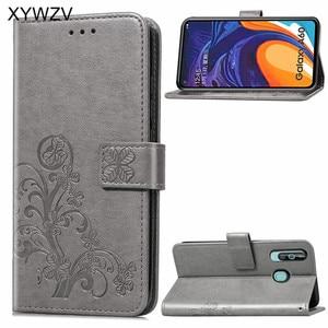 Image 1 - Para Samsung Galaxy A60 funda de lujo PU funda de silicona suave Flip Wallet funda de teléfono para Samsung Galaxy A60 tarjeta titular de Fundas