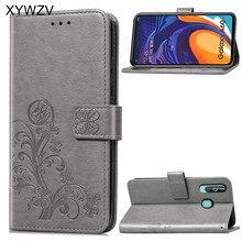 Pour Samsung Galaxy A60 étui de luxe housse en polyuréthane en Silicone souple Flip portefeuille housse de téléphone pour Samsung Galaxy A60 porte carte Fundas