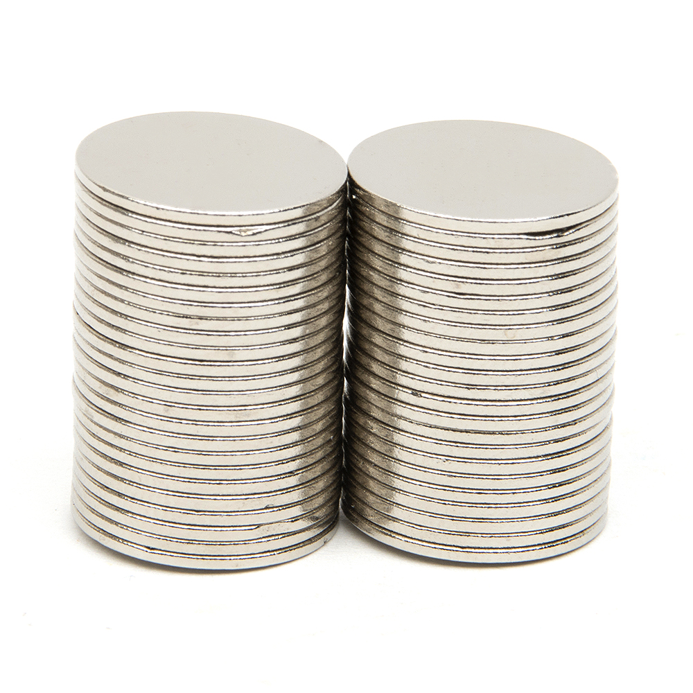 50pcs/Set 14.9x0.8mm N52 Rare Earth Strong Neodymium NdFeB Magnet Bulk Super Magnets N52 Round Shape Magnets Magnetic Materials qs 3mm216a diy 3mm round neodymium magnets golden 216 pcs