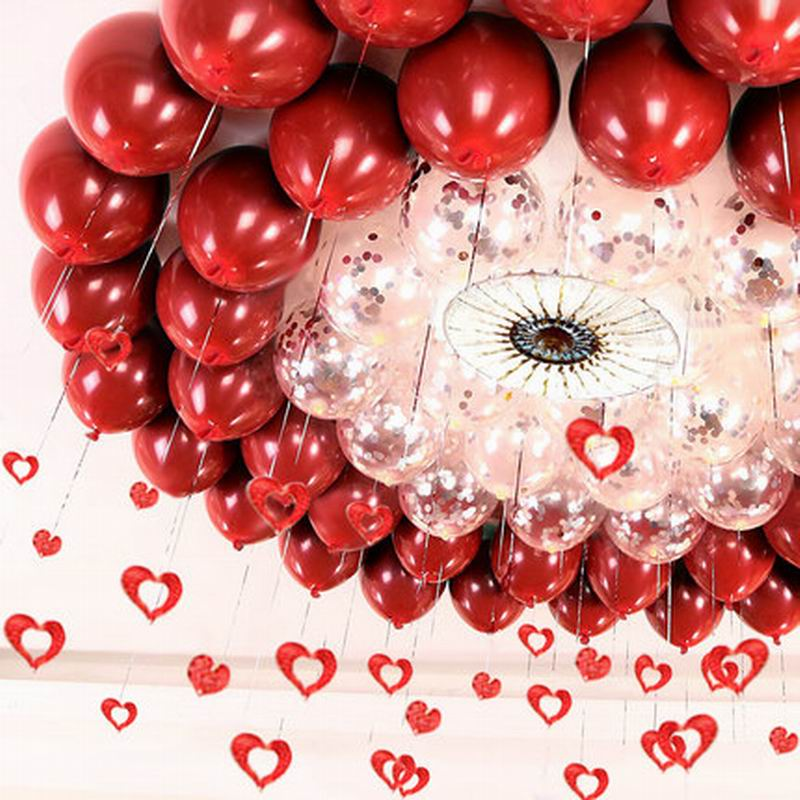 Image 4 - GIHOO 10PCS 20PCS 50PCS 5inch 12inch Ruby Red Glossy Metal Pearl Latex Balloons Chrome Metallic Color Wedding Party Decor-in Ballons & Accessories from Home & Garden