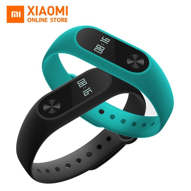 imágenes para Original Xiaomi Mi Banda 2 miband 2 Smartband touchpad pantalla OLED pulsómetro Bluetooth 4.2 rastreador de ejercicios