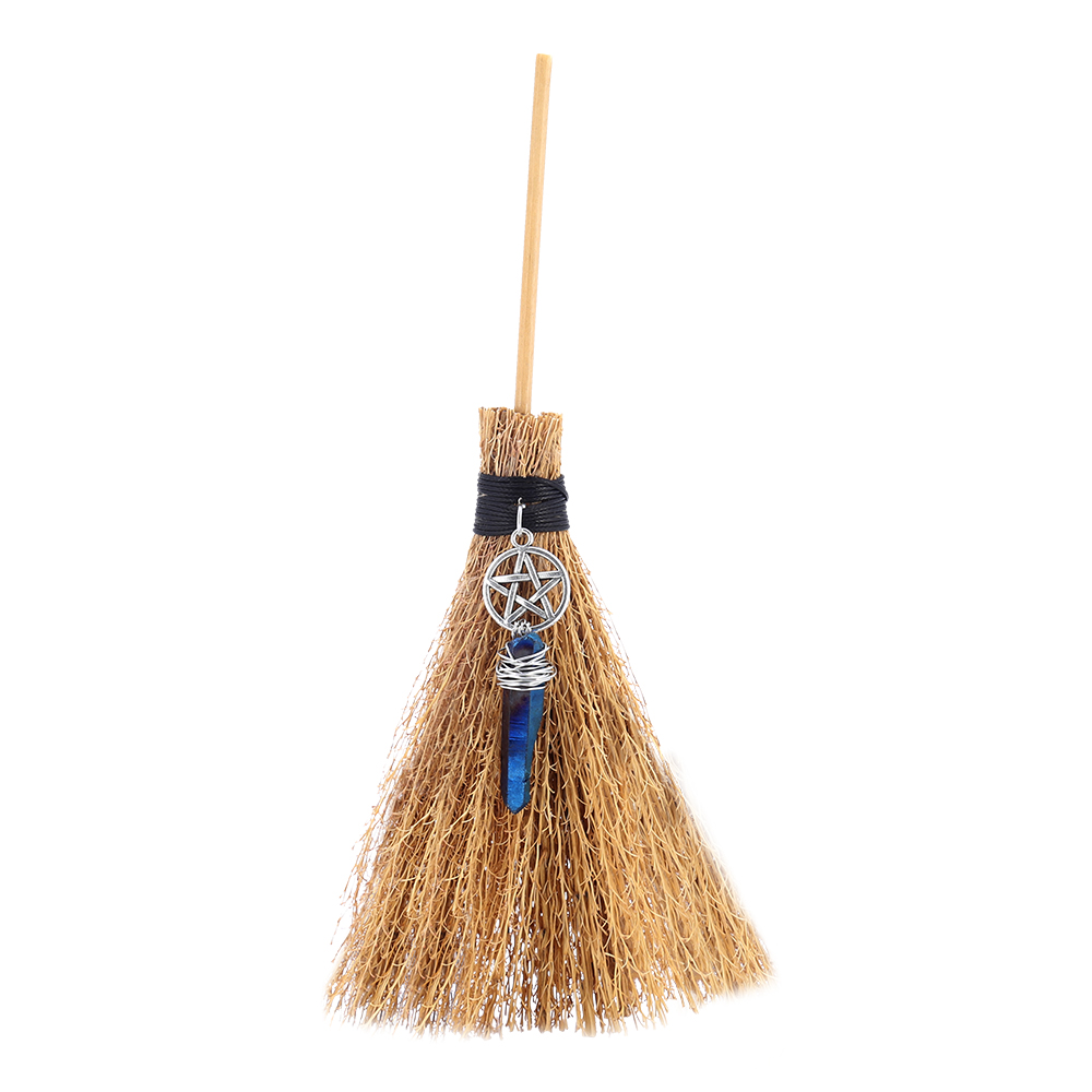 MINI Witches Wicca Altar Broom Travel Protection Charm Wicca