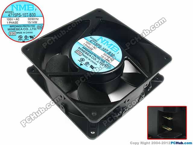 NMB-MAT 4715PS-10T-B30 E06 Server Square Cooling Fan AC 100V 15W 120x120x38mm 2-wire free shipping for nmb 4715ms 10t b40 b00 ac 100v 14w 120x120x38mm server cooling square fan page 7