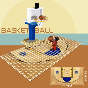 Image 5 - 32*16 Football Basketball Base Plate Compatible Legoe Figures Court Baseplate DIY Building Blocks Bricks Toys For Children Gifts