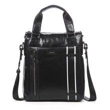 Trendy men genuine leather vertical handbag top-end cowhide real leather for men business casual leather handbag shoulder bag