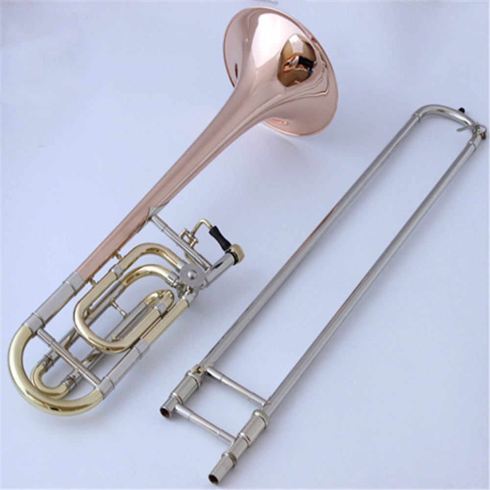New  trombone 36BO tenor trombone instrument tone B-F phosphor bronze copper-nickel alloy pipe performance bb f tenor trombone lacquer brass body with plastic case and mouthpiece musical instruments