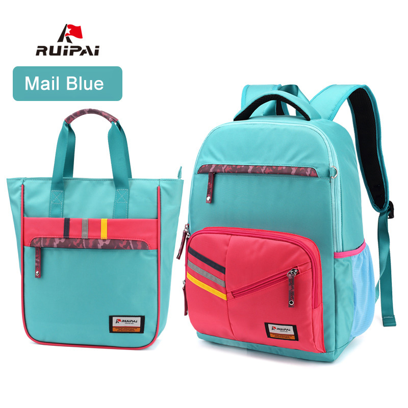 RUIPAI 2PCS 1 Set Kids Baby's Bags School Bag Backpack For Children Girls Backpack and Remediation Schoolbag Satchel Bags