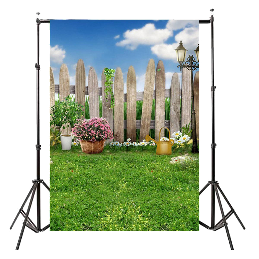 3x5FT Vinyl Photography Backdrop Wall Photo Background Blue sky and white clouds 3x5ft vinyl photography backdrop wall photo background dark gray