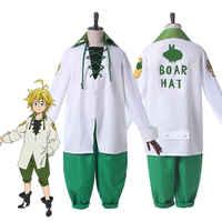Disfraz de uniforme de Meliodas Cosplay de los siete pecados capitales de Anime atuendo completo Tops + Pantalones traje de Halloween