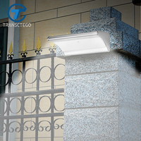 TRANSCTEGO Solar Light LED Solar Powered Lamp Outdoor Lighting Garden Decoration Waterproof Motion Sensor Household Super