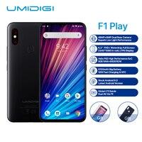 UMIDIGI F1 Play Smartphone Android 9.0 48MP+8MP+16MP Cameras 5150mAh 6GB RAM 64GB ROM 6.3 FHD+ Helio P60 Global Version Dual 4G