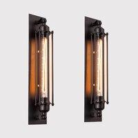 1 יחידות בציר לופט תעשייתי אמריקאי מנורות קיר קיר קיר ליד מיטת אור 40 W E27 אדיסון אור גופי תאורת קישוט הבית