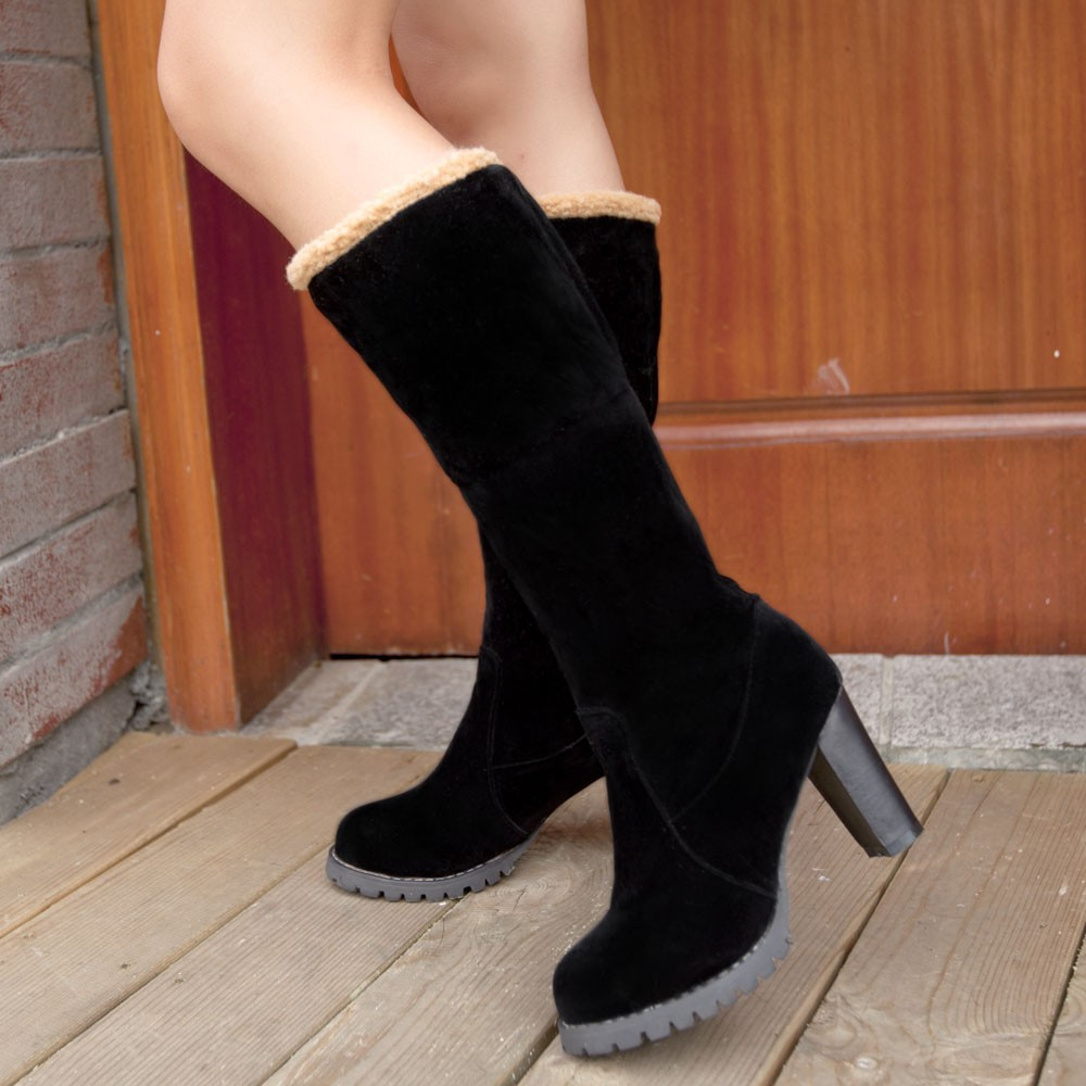 Free Shipping 2014 new fashion sexy ladies half boots high ...