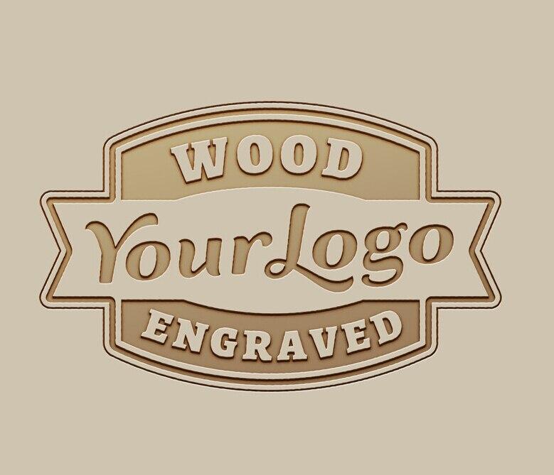 Il Logo è Benvenuto Logo Personalizzato Incidere sul Bambù Orologi In Legno Scatola di Legno Logo Laser Incide Tassa di OEM/ODM