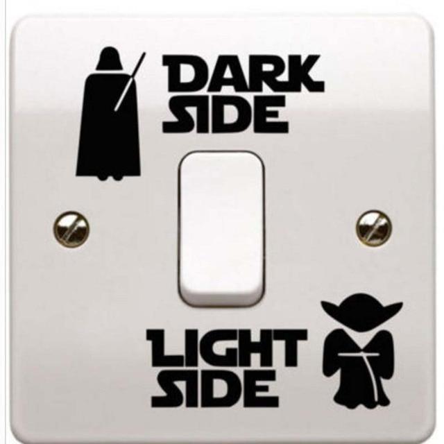Star Wars movie Dark Side Light Side Switch Sticker kids Room Home Decor starwars wall sticker living room mural art posters