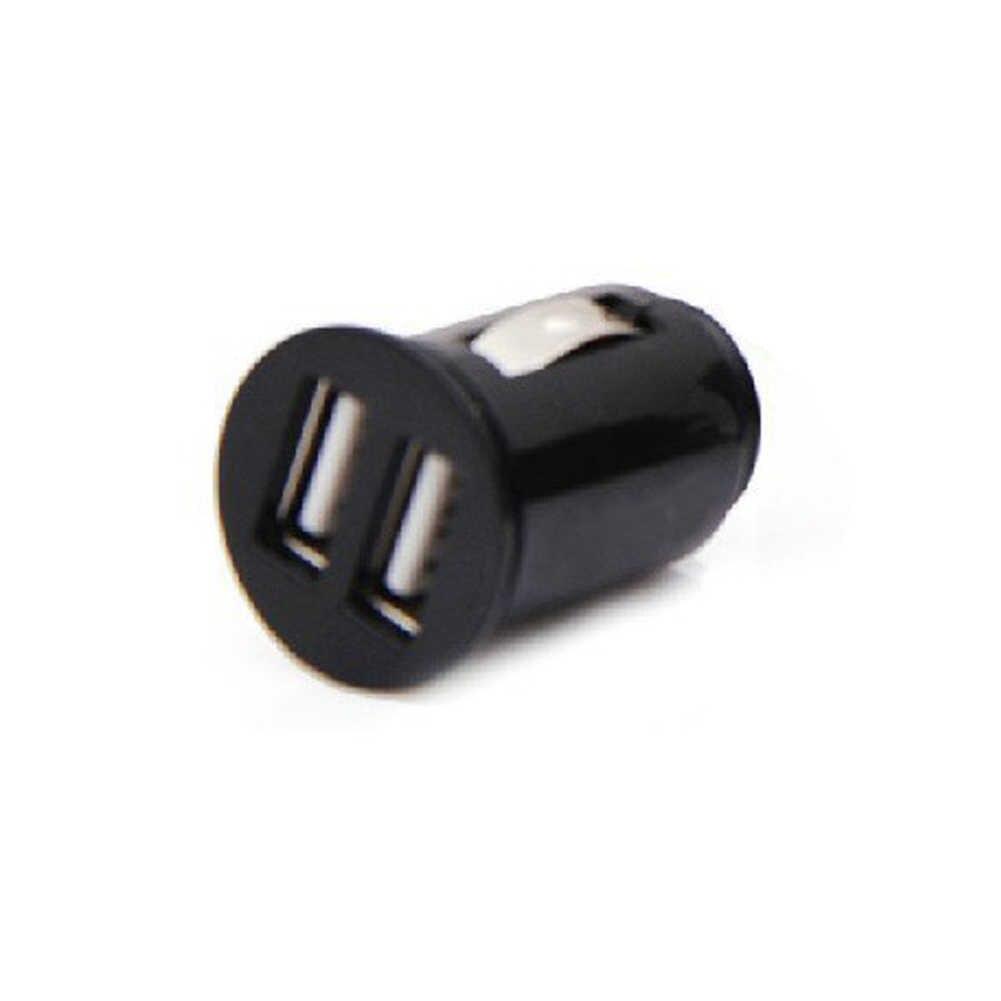الأسود المزدوج مزدوجة USB شاحن سيارة السجائر ل سادة