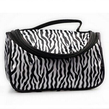 1PCS Travel Portable Zebra Wash Storage Toiletry Pouch Cosmetic Case Professional Makeup Bag For Women