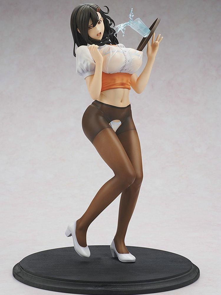 29cm Anime Oda Non Heroine Collections Wakazuma Waitress Hitomi Sexy Figure 1/6 PVC Action Figure Collection Model Toys For Boy