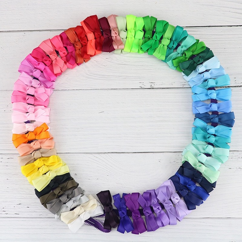 20PC lot Newborn Kids Handmade Wide Nylon Headbands Knotted Hair Bow Headband Children Girls Headwear Hair Accessories in Hair Accessories from Mother Kids