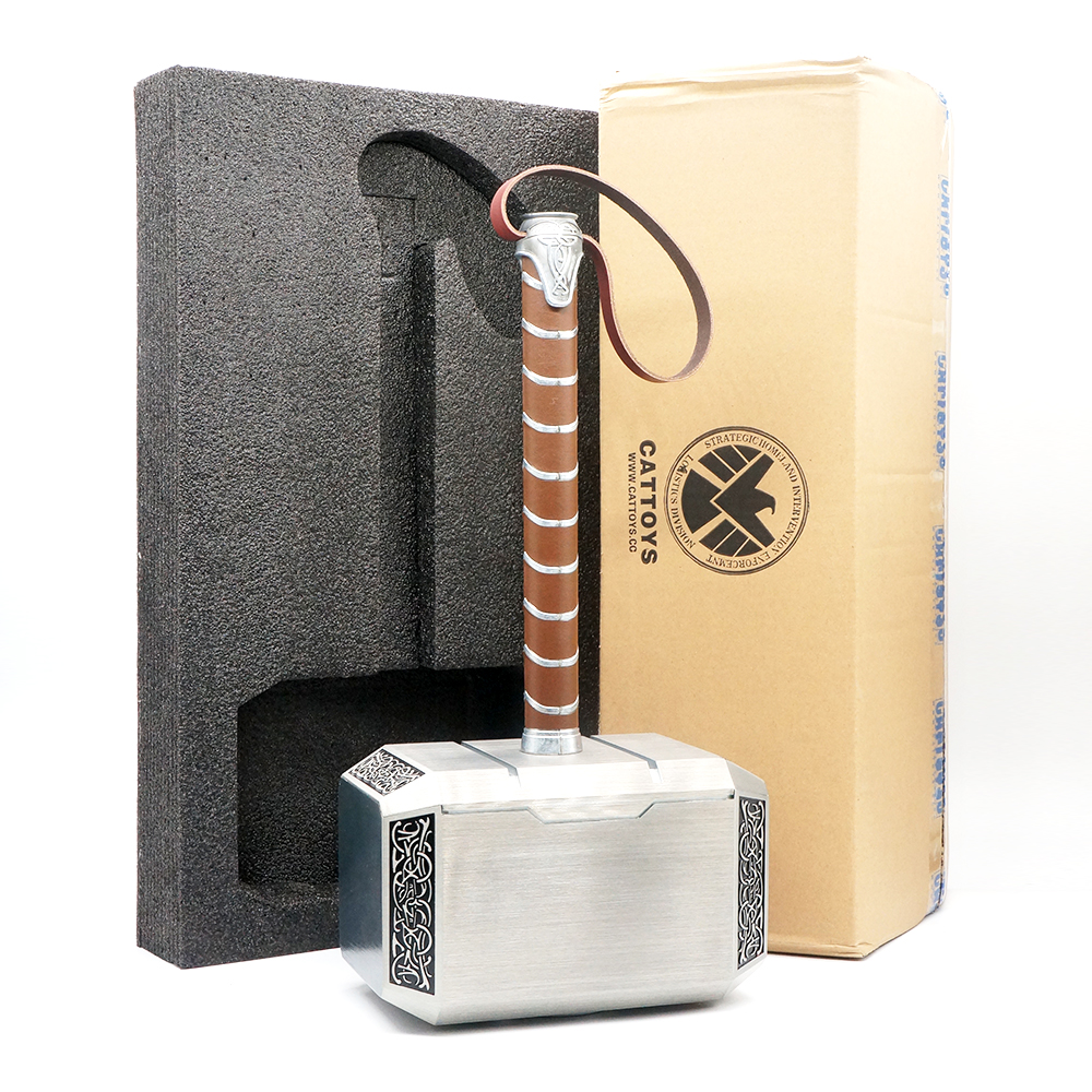 Cattoys Metal 1:1 Scale The Avengers Thor Hammer 43CM Replica Collection Modell Toy Gift Cosplay Prop Mjolnir With Original Box