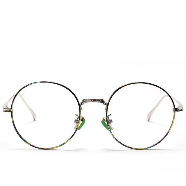 2016 Prateleiras de vidros Opticos Durável material de aço Inoxidável Moda unissex armações de óculos de Miopia hipermetropia TG615