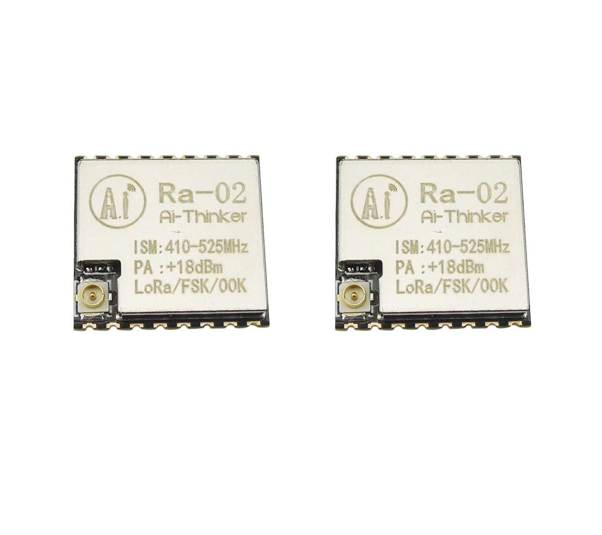 Aihasd 2 шт. LoRa SX1278 433 м 10 км Беспроводной широкополосный модуль передачи Ra-02 IPEX гнездо DIY Kit для SPI GPIO Интерфейс