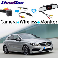 Liandlee For Mercedes Benz A Class MB W176 3 in1 Special Rear View Reversing Camera + Wireless Receiver + Mirror Monitor DIY