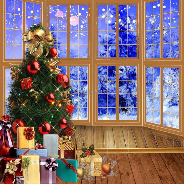 Beautiful Christmas Gifts Tree 8\'x8\' CP Computer painted Scenic ...