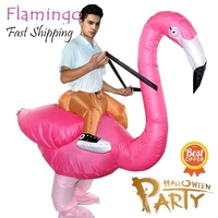 Novelty Creative Toy Action Figure Flamingo Party Costume Clothing PVC Inflatable Material Mascot Cosplay Unisex Party