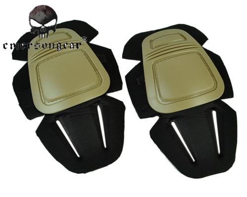 Prix pour Emerson Airsoft Paintball Genouillères Doux Confortable Tactique Militaire Combat V3 Protection Genou Pad Noir/Tan Sports De Plein Air