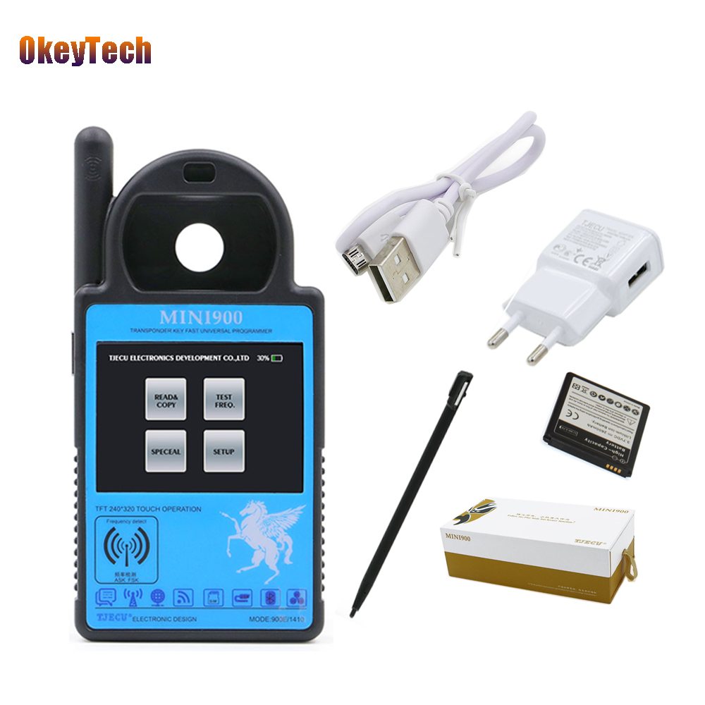OkeyTech Mini ND900 Car Key Programmer ND 900 Transponder Tool Auto Car Key for Toyota G 4D67 72G T5 4C 4D ID46 Chip Copy Cloner for toyota g and for toyota h chip vehicle obd remote control key programmer smart transponder key maker with power switch