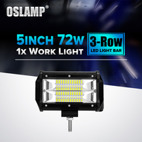 Oslamp 72W 5inch Led Chips Flood Beam Work Light 12V 24V 6000K 1pc Led Car Lamp