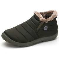 Men Winter Shoes Solid Men Shoes Snow Boots Cotton Inside Antiskid Bottom Keep Boots Winter Warm