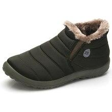 Мужская зимняя обувь одноцветное Мужская обувь Снегоступы Хлопок Внутри на нескользящей подошве держать Сапоги и ботинки для девочек зимние теплые Водонепроницаемый лыжный Сапоги и ботинки для девочек Размеры 48